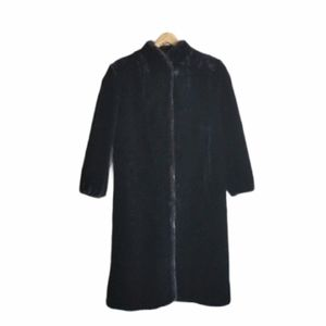 Vintage Coat Faux Fur Black STYLE VI Full Length